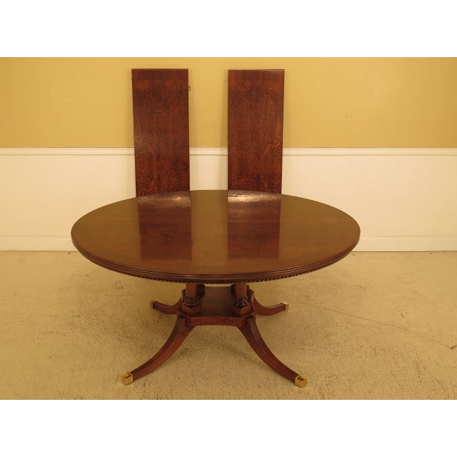 Gorgeous Burl Walnut Round Dining Room Extension Table Age: Approx: 20 Years Old Details: High Quality Construction...