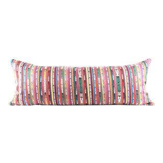 TUCAN striped guatemalan pillow large lumbar