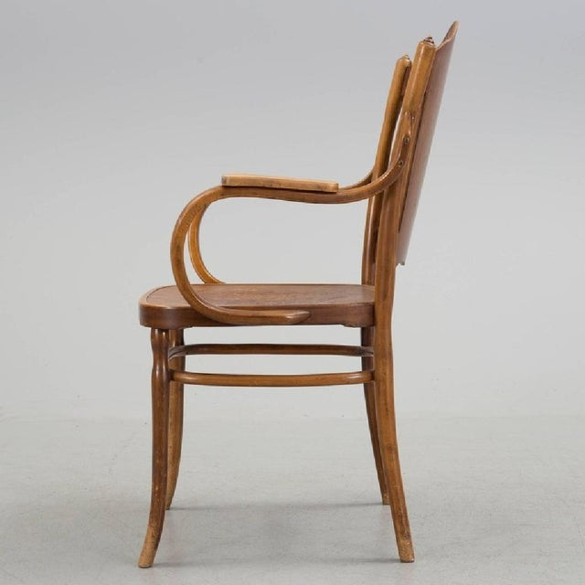 - Beech bentwood frame with an embossed plywood seat and backrest - First time mentioned in the J. & J. Kohn catalog 1902...