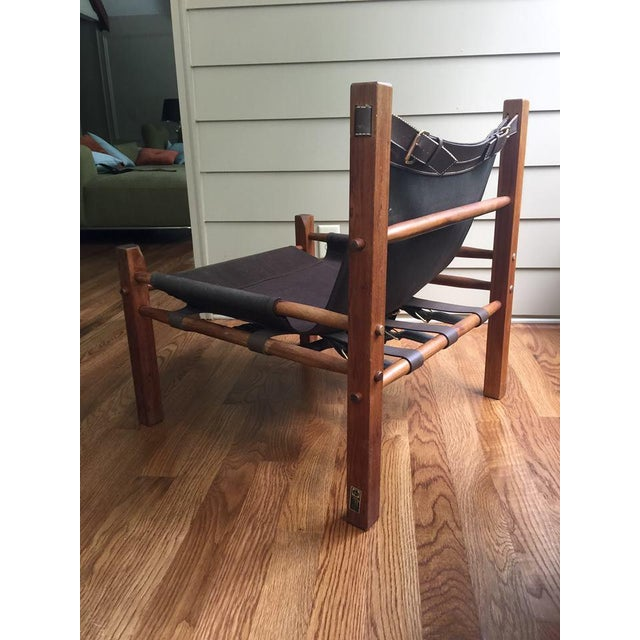 Primitive Arne Norell Style Campaign Sling Chair For Sale - Image 3 of 11