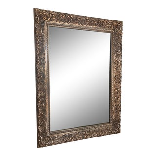 1970s Vintage Gold Framed Wall Mirror For Sale