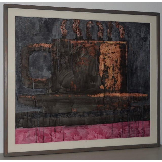 Aaron Fink (American, B.1955) Vintage Abstract Original Painting C.1986 For Sale - Image 13 of 13