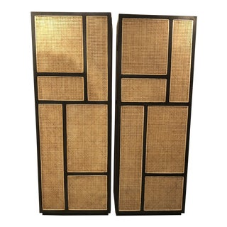Pair of Indonesia Wardrobe Ebony Finish For Sale