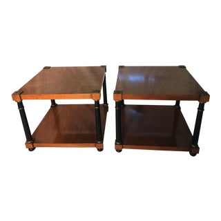 Vintage John Stuart Burled Louis XVI Style Side Tables - a Pair For Sale