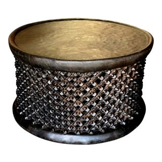 Large Bamileke Solid Wood Coffee or Side Table From Cameroon, Africa For Sale