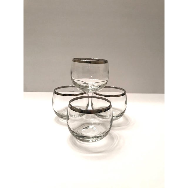 Silver Mid-Century Barware Glass Set With Sterling Silver Overlay by Dorothy Thorpe For Sale - Image 8 of 13
