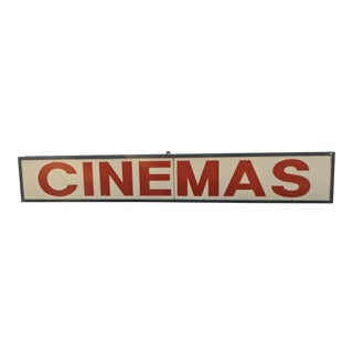 Movie Theater Lighted Cinemas Sign For Sale
