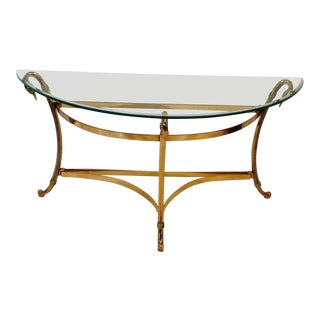 LaBarge Hollywood Regency Demilune Table For Sale