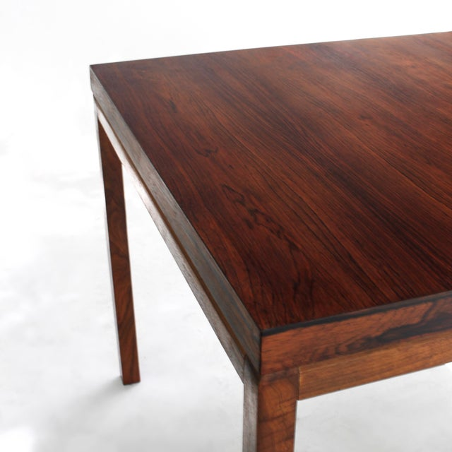 Thayer Coggin Milo Baughman Thayer Coggin Rosewood Table For Sale - Image 4 of 9