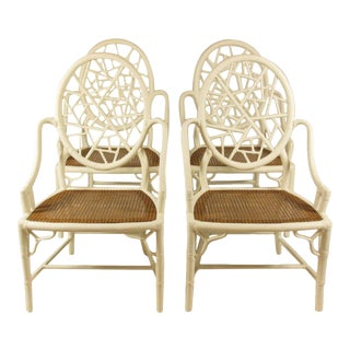 Vintage McGuire Arm Chairs - Set of 4 For Sale