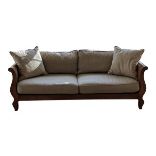 Modern Tan Bernhardt Sofa For Sale