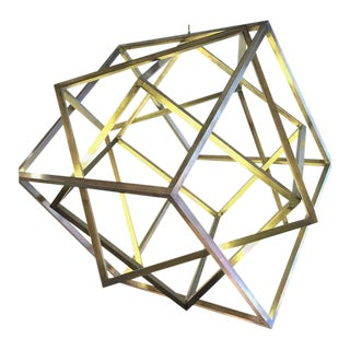 Monumental Cubic Suspension Pendant Chandelier