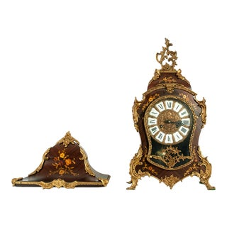 Early 19th Century Louis XV Style Bronze Mounted Wall Clock For Sale
