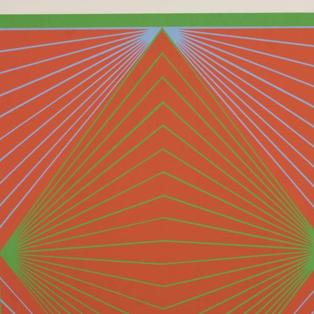 """Richard Anuszkiewicz Richard Anuszkiewicz """"Diamond Chroma"""" Screenprint in Colors, 1965 For Sale - Image 4 of 10"""