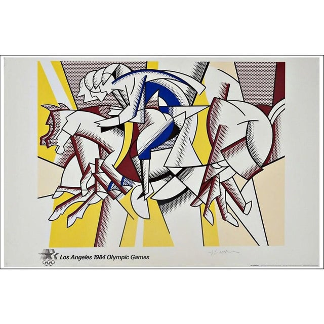"""The Red Horseman"" Artist Signed ""The Equestrians"" for the 1984 Los Angeles Olympia Games by Roy Lichtenstein For Sale - Image 4 of 4"