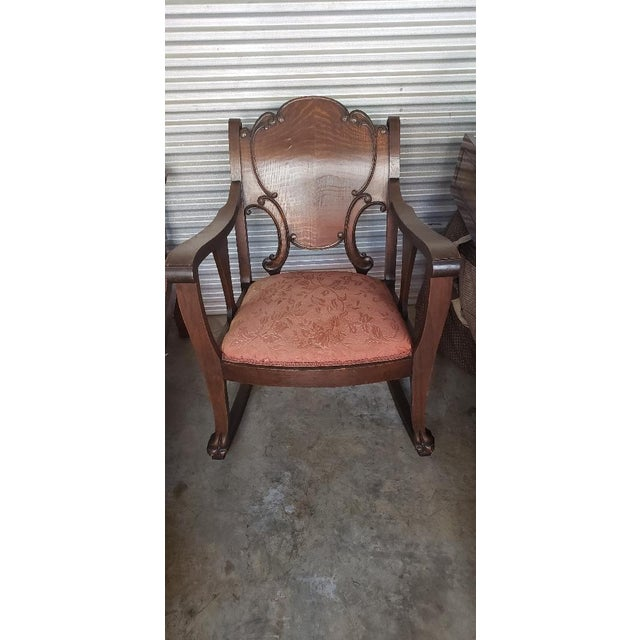 Vintage Wooden Rocking Chair For Sale - Image 11 of 11