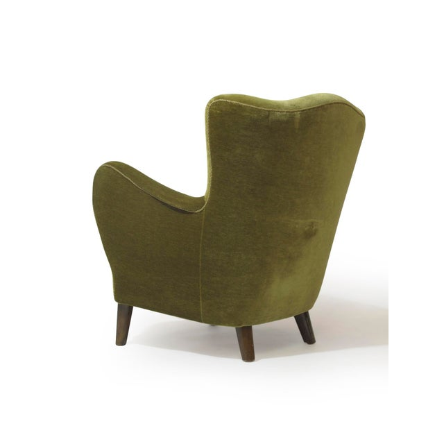 Mohair Scandinavian Mohair Lounge Chair For Sale - Image 7 of 11