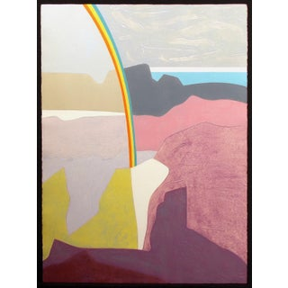 "Clare Romano ""Rainbow Canyon"" Hand Signed Limited Edition Collagraph Etching Unframed For Sale"