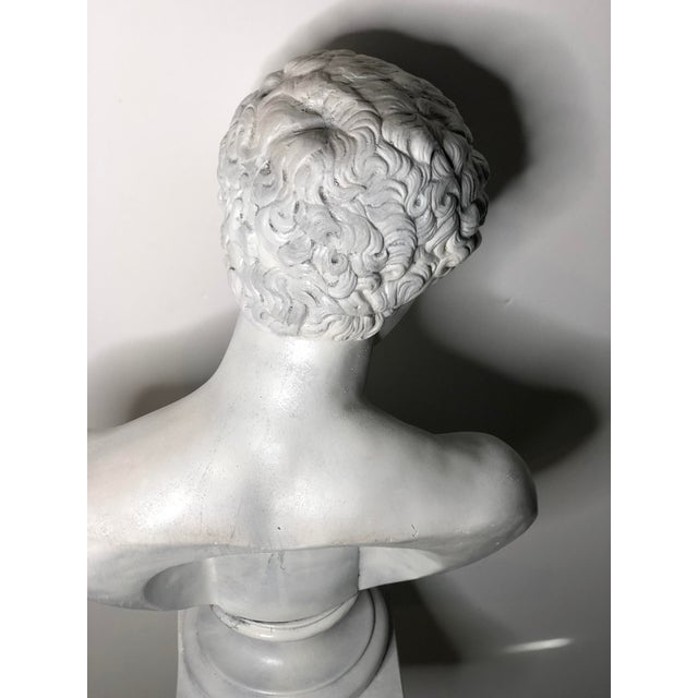1940s Vintage Neoclassical Style Plaster Bust of Apollo Sculpture For Sale - Image 10 of 12