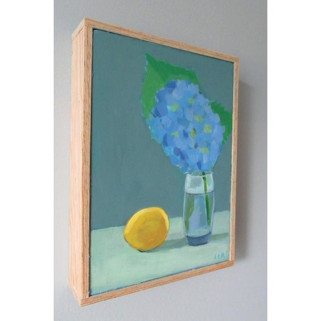 French Country Hydrangea and Lemon by Anne Carrozza Remick For Sale - Image 3 of 5