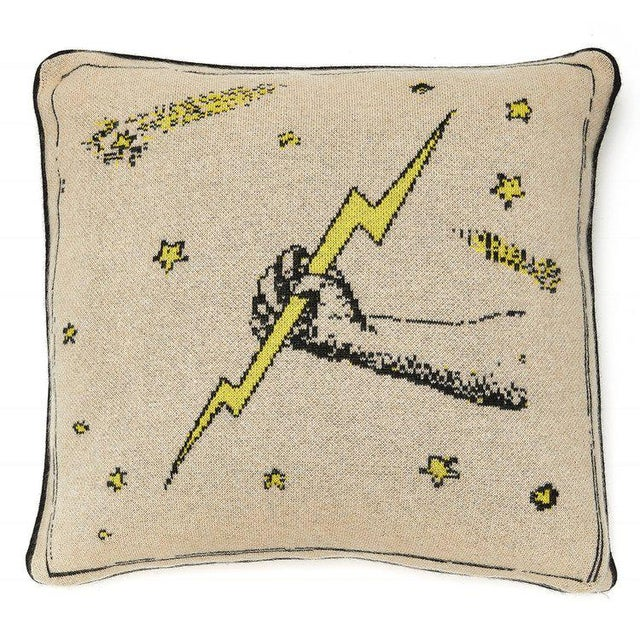 Contemporary Lightning Rod Cashmere Pillow For Sale - Image 3 of 3