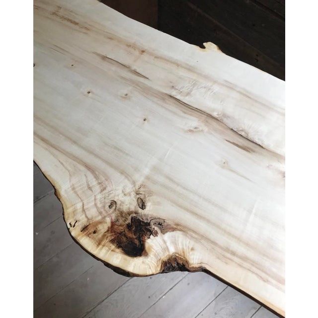 Beautiful, handmade maple wood live edge desk. Could also be used for an entryway, sofa or console table. Light maple wood...