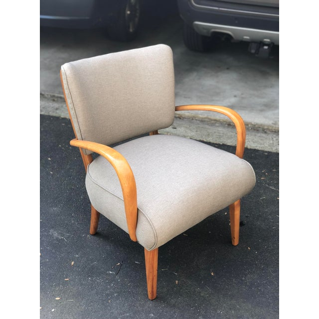 Mid Century Modern Heywood Wakefield Birch Frame Arm Chair For Sale - Image 9 of 9