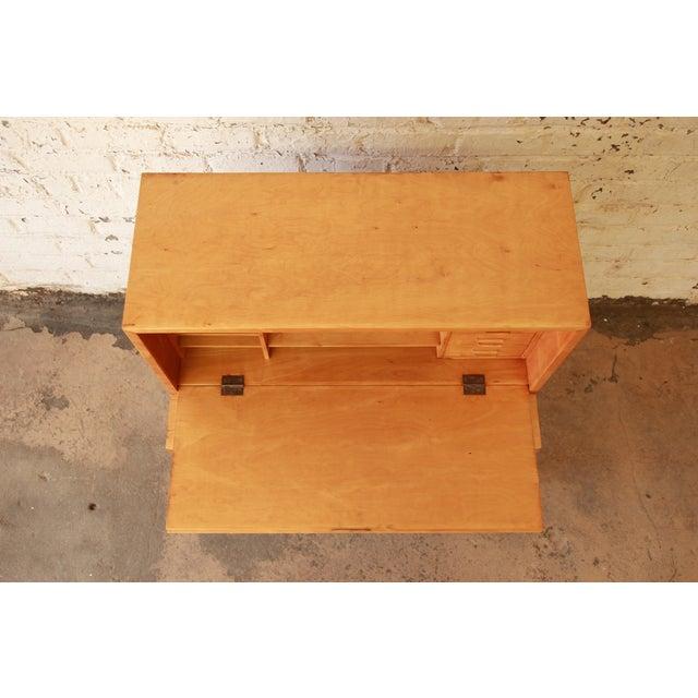 Brown Alvar Aalto 802 Secretary Desk For Sale - Image 8 of 11