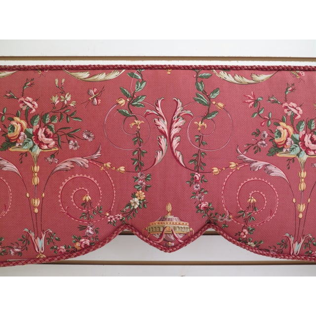 Traditional Custom Made Floral Print Box Window Valance For Sale - Image 3 of 9