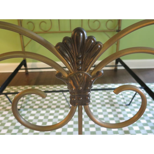 Vintage Victorian Style Metal High Back Queen Size Bed Frame For Sale In Philadelphia - Image 6 of 12
