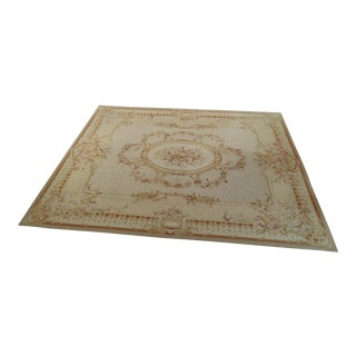 HandMade French Aubusson 12 X 15 Room Size Rug For Sale
