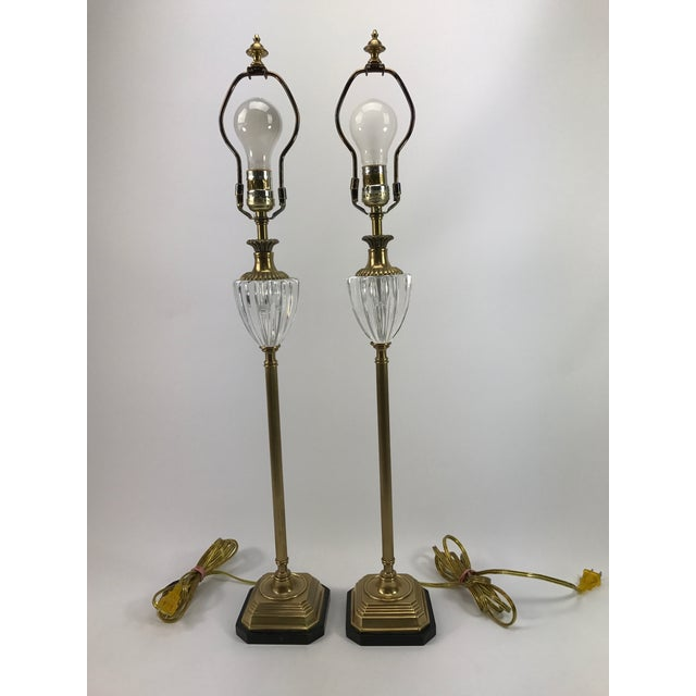 Frederick Cooper Brass & Lucite Buffet Lamps - A Pair - Image 2 of 10