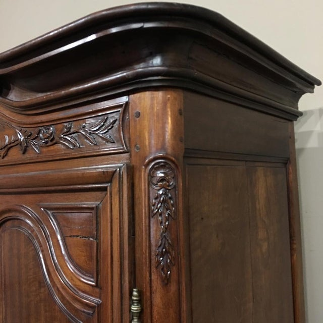Grand 19th Century Country French Solid Walnut Armoire, Circa 1850 For Sale In Baton Rouge - Image 6 of 11