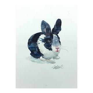 """Original Watercolor Bunny, 9x12"""" For Sale"""