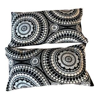 Schumacher Contemporary Black & White Pillows - a Pair For Sale