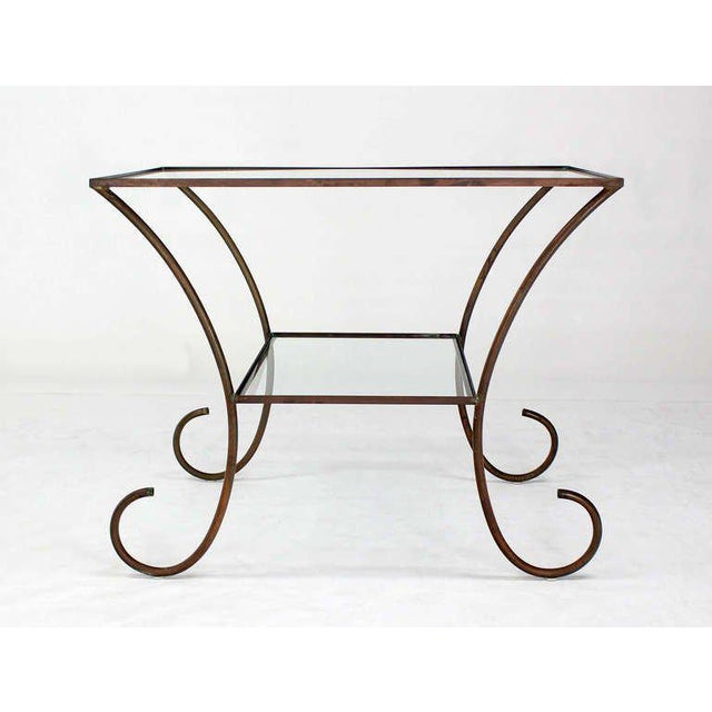 Very nice mid century modern solid brass tubing hall table.