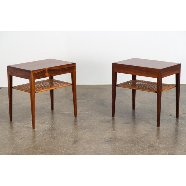 Mid-Century Modern Rosewood Tables by Severin Hansen - a Pair For Sale In New York - Image 6 of 10