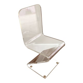 Vintage Z Lucite Side Chair For Sale