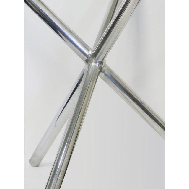 1970s Mid-Century Chrome Jax Tripod Table Attributed to Milo Baughman For Sale - Image 5 of 7