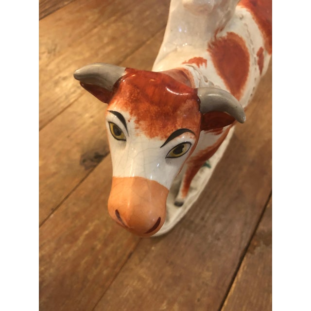 Antique Cow Staffordshire Spill Vases - a Pair For Sale - Image 11 of 13