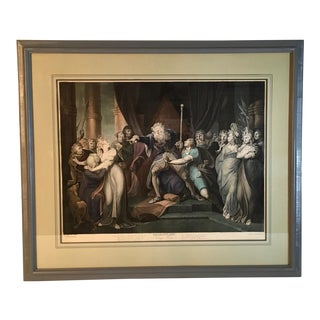 Framed Antique Engraving Print of Shakespeare's King Lear Dated 1796 For Sale