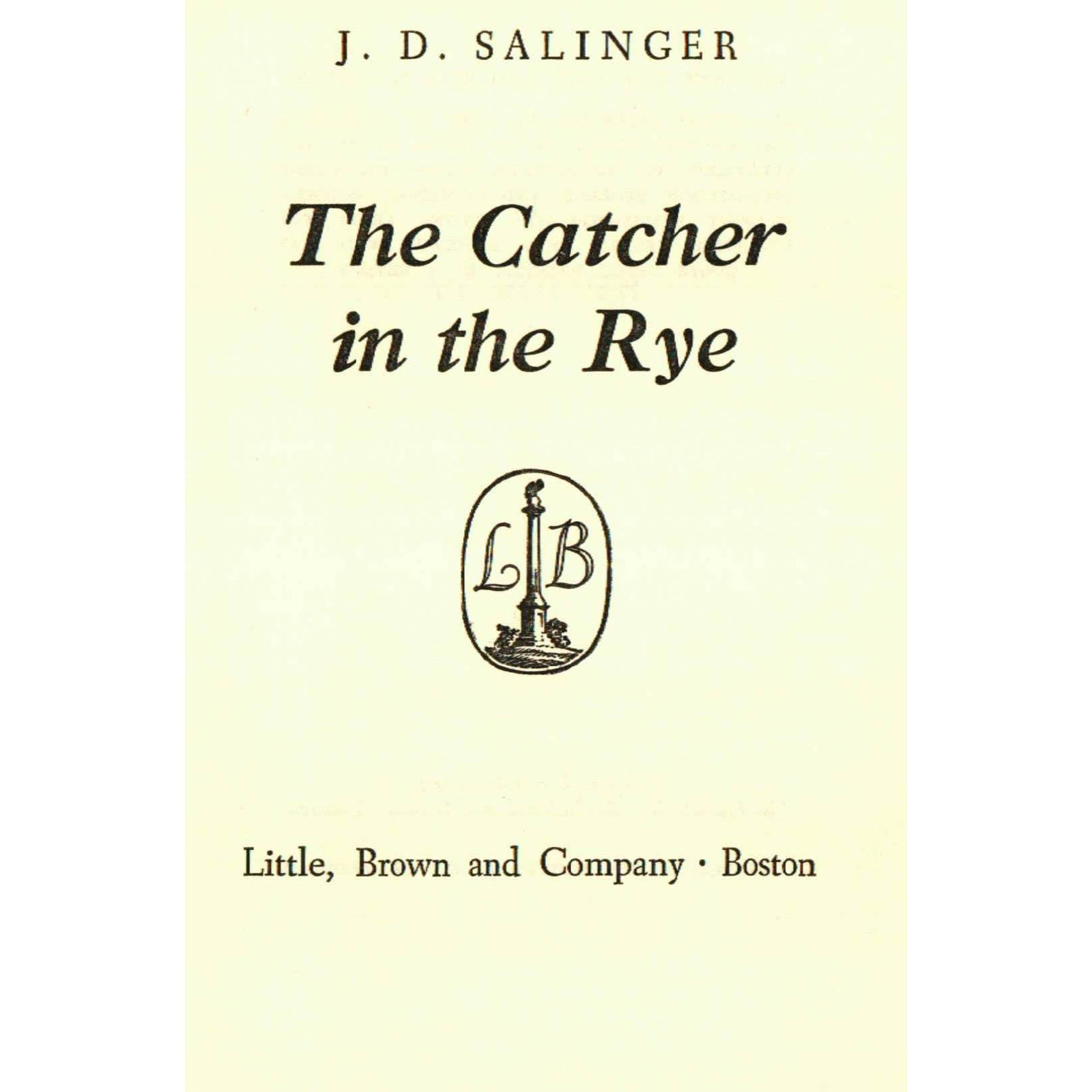 catcher in the rye sibling relationships He says he would like to be the catcher in the rye, standing by the edge of a cliff and keeping children, playing in an adjacent field of rye, from falling off holden's alienation is disenchantment mingled with hope.
