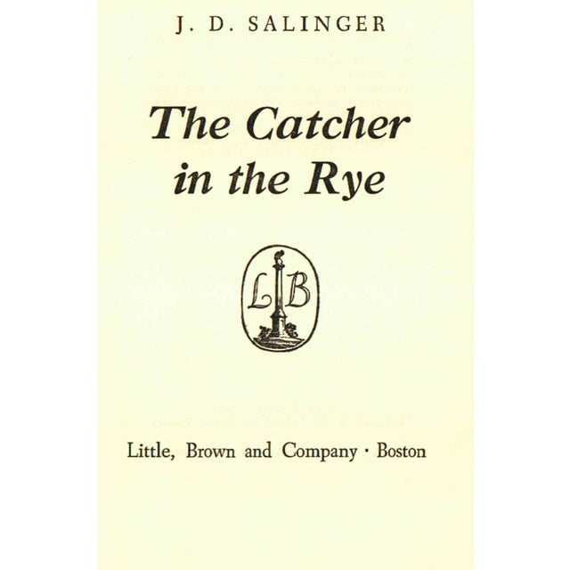 """1950s """"The Catcher in the Rye"""" Hardcover Book by J. D. Salinger - Image 2 of 3"""