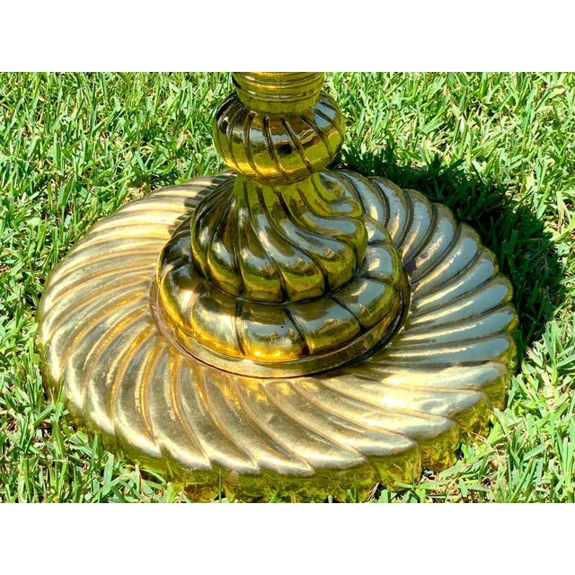 Mid 20th Century Large Turkish Spiral Brass Brazier For Sale - Image 5 of 12