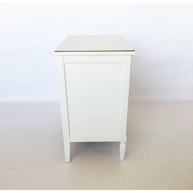 Pair Lacquered French Regency Bachelor Nightstands For Sale - Image 9 of 10