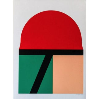 Takesada Matsutani Red Sun Hand Signed Numbered Screenprint For Sale