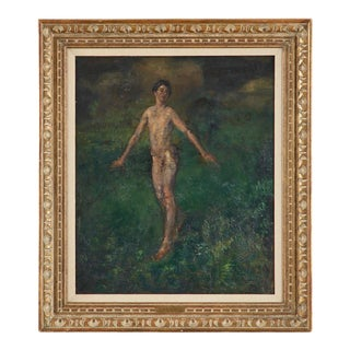 "Arthur B. Davies ""Boy"" Oil on Canvas Painting For Sale"