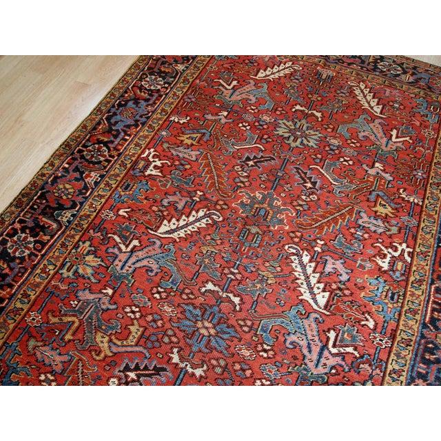 1900s, Handmade Antique Persian Heriz Rug For Sale - Image 4 of 12