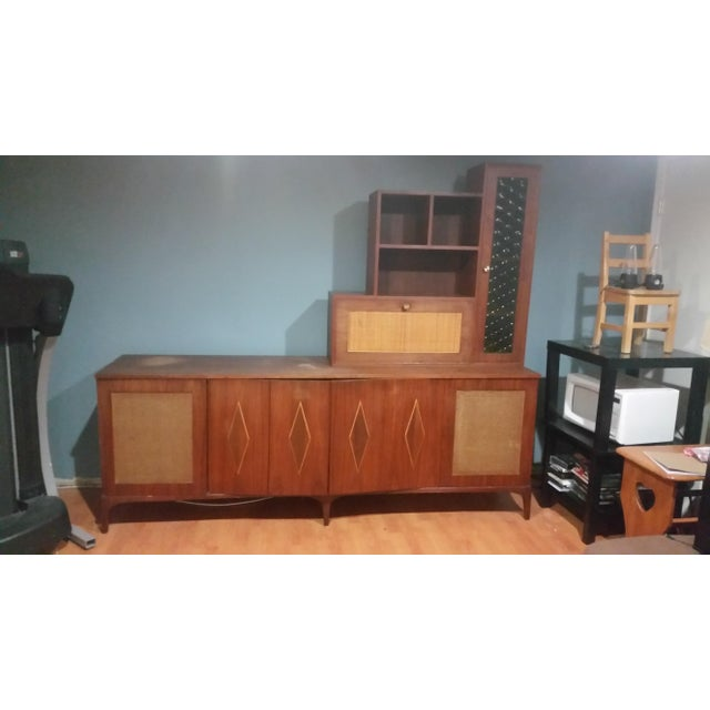 Mid-Century Modern Custom Made Credenza With Hutch - Image 2 of 6