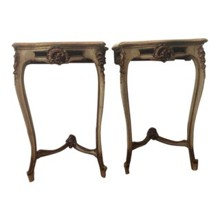 Antique French Painted Console Tables - a Pair For Sale